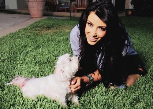 Покажите красивую картинку девушка с собакой..