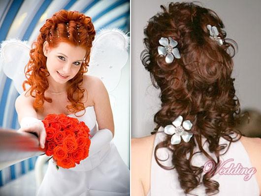 Выпускная прическа на кудрявые волосы