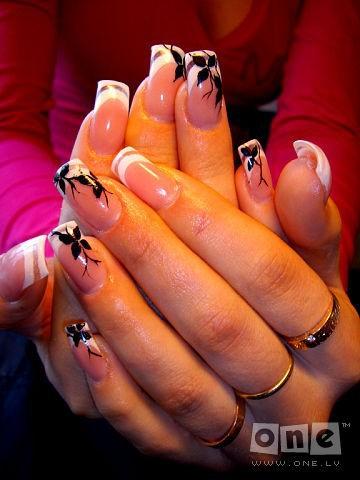 черно белые дизайн ногтей: