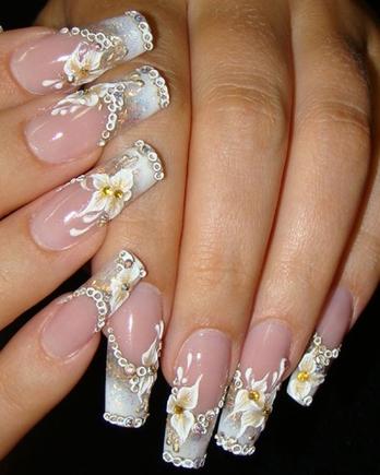 Красивый дизайн гелевых ногтей
