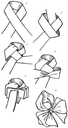 как сделать бантик на голове картинки
