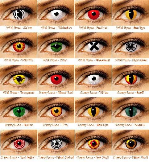 Разновидности цветных линз для глаз