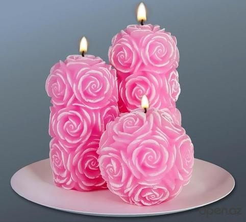 Красивая свеча на торт своими руками 36