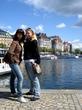 С Ксюшей на фоне Стокгольма ^^