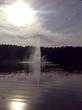 фонтан на лесном озере ( Juglas Ezers )