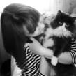 с котом.