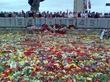 Возложение цветов в Риге у памятника Великой Победы 1945 года.