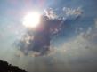 Небо, солнце, облака, кусок леса с телефона (с) K.O. :)