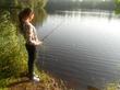 .женщина на рыбалке