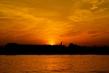 Закат на набережной Даугавы.