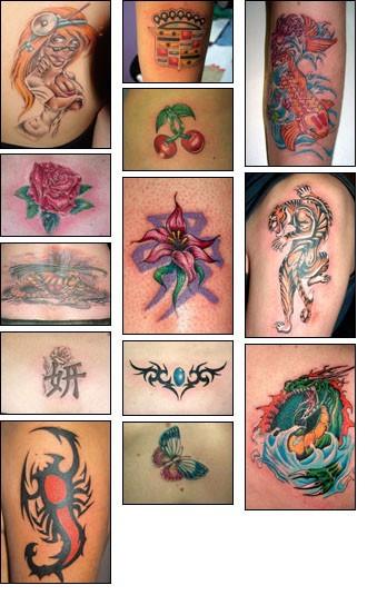 Татуировка своими руками цветная