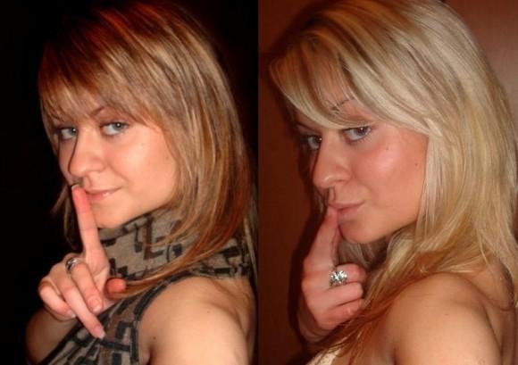 Девушки брюнетки красились в блондинок?блондинки красились в брюнеток?