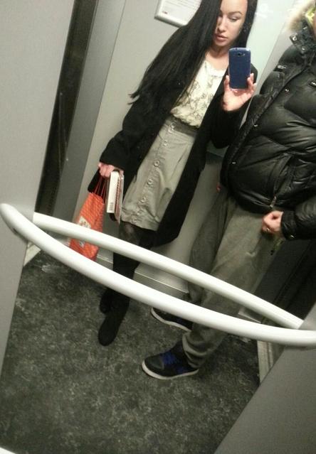 v ljubimom lifte:D