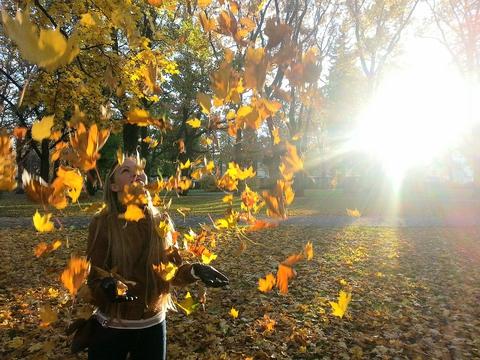 У всех уже есть фото с листьями?