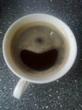 кофе улыбается