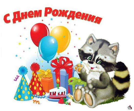 Поздравления с днем рождения енот