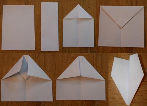 Фото как сделать самолётик из бумаги