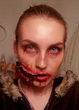 Zombie-style. My face art