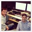 С другом в студии