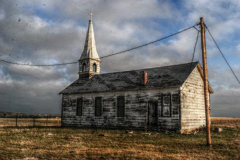 Parādi pamestu baznīcu, mošeju vai sinagogu?