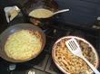 Блинчики с сыром, чесноком и зеленью... Доброе утро!))