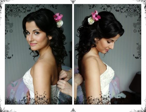 Свадебные прически без фаты на средние волосы с