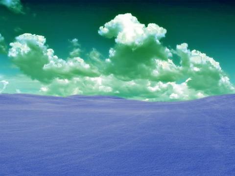 Vari atrast tādu attēlu - ''Zila zāle, zaļas debesis?'' :D
