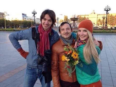 С Отцом и братом)