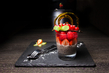 Эстетствуем: шоколадный пудинг из семян чиа с ягодами.