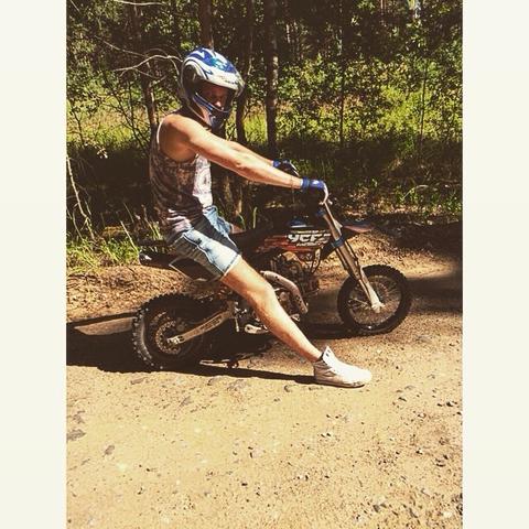 Pit bike rider ))
