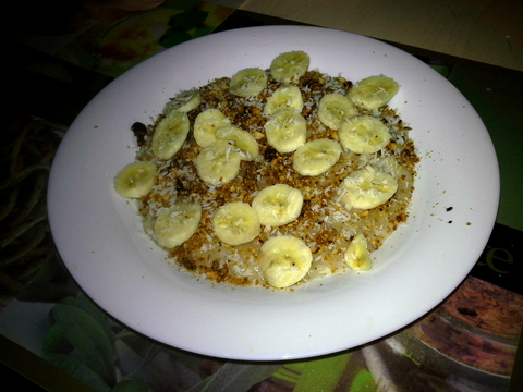 Завтрак овсянка :Р