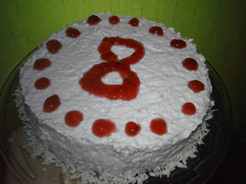 Тортик на утро готов! :)