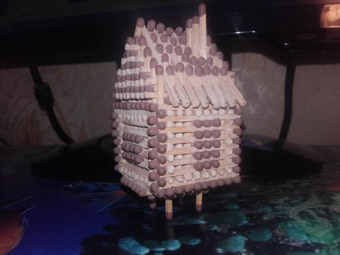 Эксклюзив-Самодельный домик из спичек.