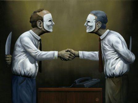 Покажите самую распространенную социальную маску?