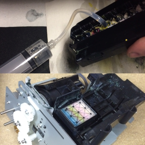 процедуры оживления печатной головы dx5 и бракованная парковка))