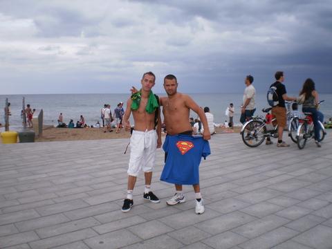 Путешествие по Европе: Барселона, шторм, море, пляж