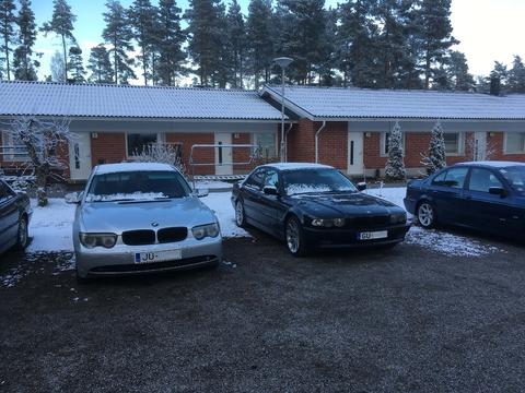 бмв двор и снова снег :D finland
