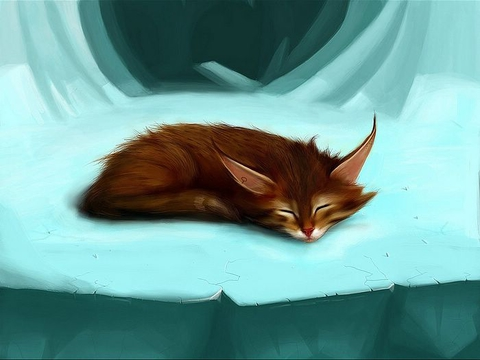 Покажите рисунок, на котором изображен кто-то/что-то сонный или спящий?