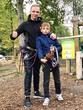 С племянником покоряем вершины Сигулды