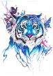 Тигр и бабочки