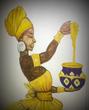 Афро-мёд.