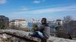 Взгляд со стороны Буды на Пешт через Дунай.Будапешт [Венгрия]