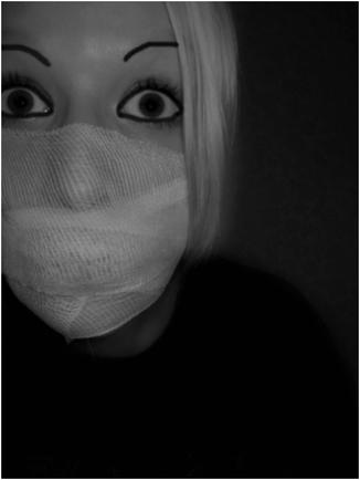 Покажите необычную маску, такую, чтоб не на всё лицо