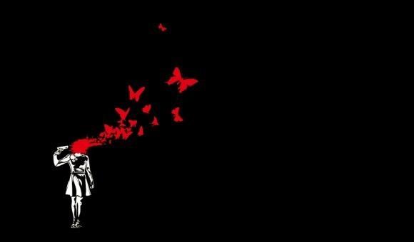 Есть у кого фотка (она здесь на ирце 2 раза была) тату где девушка стреляет себе в голову и бабочки разлетаются?