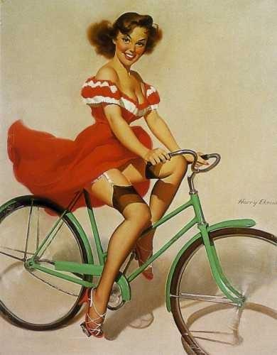 Покажите идеальный костюм для катания на велосипеде?(для девушки)