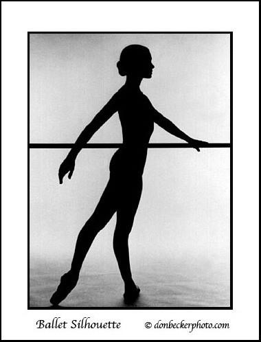 Покажите пожалуйста силуэт балерины!