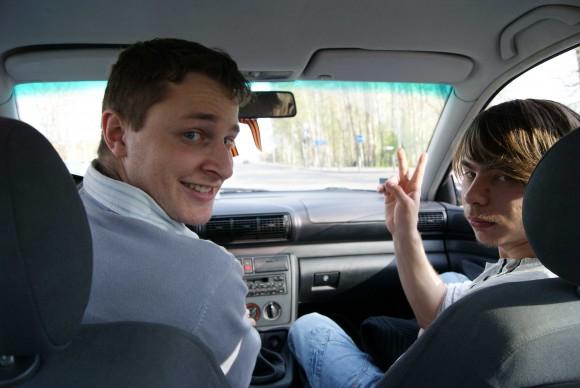 что у вас  висит, лежит в машине ?
