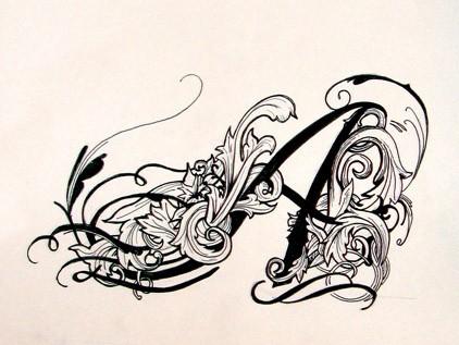 """Киньте красивую татуировку с буквой """"А"""" ? =)"""
