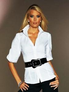 Покажите красивую женскую рубашку/блузку белую?
