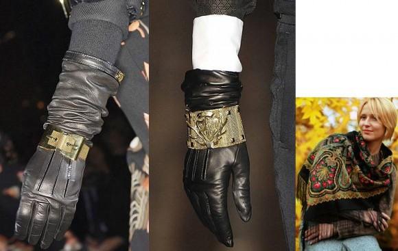 Покажете красивые осенние или зимние перчатки, подходящие к этой сумке?